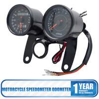 Motorcycle Motorbike LED Dual Odometer Speedometer Tachometer Speedo Meter Gauge