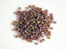 Delica Size 8 Transparent Matte Rainbow Dark Topaz (DBL0853) Seed beads, 7.5g