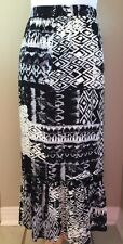 Notations Women's 3X Plus Skirt Black Elastic Waist Rayon Long Modest No Slit