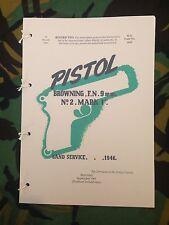 BROWNING FN INGLIS 1946-1969 9mm Mk 1 PISTOL PAMPHLET MANUAL HANDBOOK ULSTER