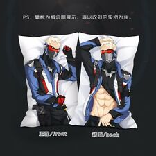 Online Game Overwatch OW SOLDIER:76 Dakimakura Cushion Pillow Cover 2WT 35x55cm