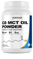 Nutricost C8 MCT Oil Powder 2LB (32oz) - 95% C8 MCT Oil Powder