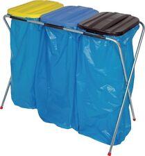 Abfallsammler Deckel eckig schwarz,gelb,blau f.3x70l-120l Säcke