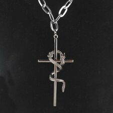 Exquisite Cross & Dragon 316L Stainless Steel Necklace Pendant For Mens SF0203