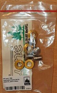 Tune Kxx Chainring Bolts Set 4 stück Gold +4 Titanium Screw Sram Xx