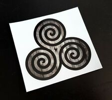 Celtic Triskele Triple Spiral Sticker / Decal, Pagan, Druid, Wiccan, Witch