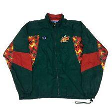 Vtg Rare NBA Seattle Supersonics Full Zip Champion Warm Up Jacket. Men's XL.