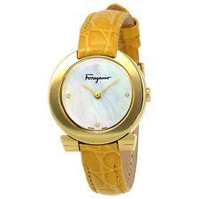 Salvatore Ferragamo Women's FAP040016 GANCINO EVENING MOP Dial Leather Watch
