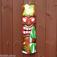 Large 50cms Hand Carved Painted Tiki Hawaiian Wall Hanging Mask Mens Gifts 2