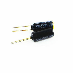 10PCS SW-520D Vibration Sensor Metal Ball Tilt Shaking Switch New