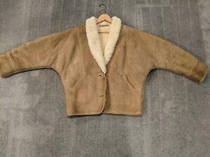Womens vintage shearling coat
