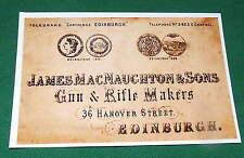 James Macnaughton Gun & Rifle Maker Repo Gunmakers Case Label Accessory Artifact