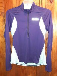 Pearl Izumi Select 1/2 Zip Pullover Cycling L Long Sleeve Jersey Top Thumb Holes