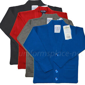 Cardigan Sweater Cobmex Boys, Youth V-Neck Cardigan Sweaters School Uniforms