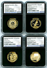 2020 S $1 NGC PF69 PROOF AMERICAN INNOVATION FIRST DAY OF ISSUE 4-COIN SET