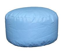 Blue Faux Leather Bean Bag Footstool Cool Blue Bean Bag Faux Leather Pouffe