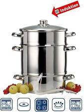 3pc Steamer + Juicer Steam Juice Stainless Stove Cook Vegetables Baby Food 9Lt.