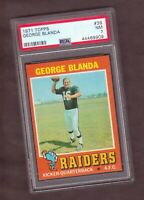 1971 Topps George Blanda PSA 7 **Oldest Player In NFL History** OAKLAND RAIDERS