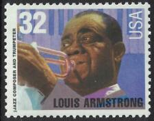 Scott 2982- Louis Armstrong, Jazz Musician- MNH 32c 1995- unused mint stamp