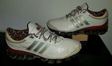 2009 Adidas Bounce G04085 White Red Silver Running Training Gym Sneakers Mens 10