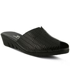 Spring Step Dejen Slide Sandal Black Croco, Size 39 EU / 8.5 US