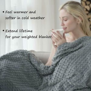 Weighted Blanket Cover ANXIETY REDUCE Cotton Gravity Sensory Relief for Adults K