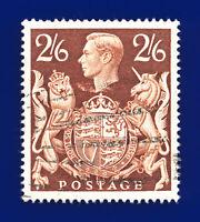 1939 SG476 2s6d Brown Q29 Clear Portrait & Post Early Sunburst Postmark ddoz
