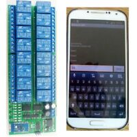 16 Channel DC 12V Android Phone Bluetooth Control Relay Switch Module Smart Home