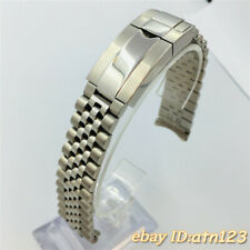 20mm Sterile 316L silver Solid Stainless Steel Bracelet Strap Bands p210