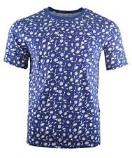 NEW MEN'S SANDRO PARIS FLORAL PRINT T-SHIRT NAVY & WHITE TROPICAL SUMMER FLOWER