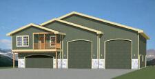 60x50 Apartment with 2-Car 2-RV Garage - PDF FloorPlan - 1,703 sqft - Model 1G