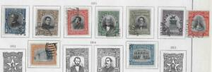 9 Salvador Stamps from Quality Old Antique Album 1911-1914