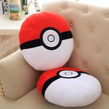"13"" Large Pokemon Pokeball Throw Pillow Cushion Car Seat Pad Soft Plush Doll Toy"