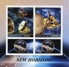 Congo 2015 MNH New Horizons Pluto 2v M/S + Labels NASA Space Stamps