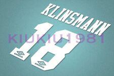 Tottemham Hotspur Klinsmann #18 1994-1995 Awaykit Nameset Printing