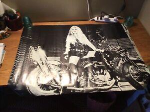 Brigitte Bardot Harley Davidson Vintage Poster (cycle) Artist Charles Bragg 1967