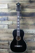 Recording King Rps-7 Matte Black Parlor Acoustic Guitar Missing a Tuner #R3745