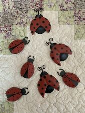 Embellish Metal Tin Ladybug Magnets Set of 6