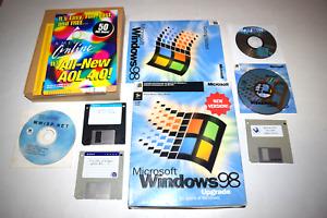 Windows 98 Upgrade Microsoft PC CD-ROM Complete in Retail Big Box