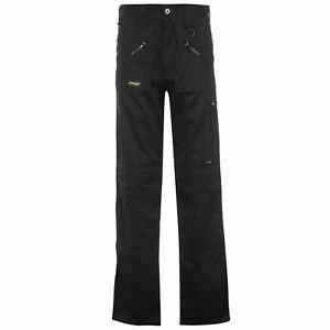 Dunlop Mens Safety Zipper Trousers Workwear Pants Bottoms Zip