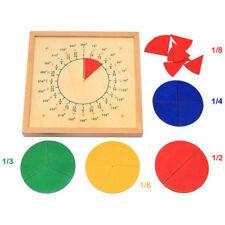 Baby Toys Circular Mathematics Fraction Division Teaching Montessori Board N7