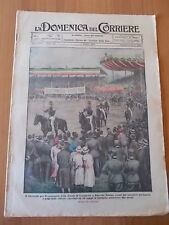 DOMENICA del CORRIERE 22/1924 Scuola Cavalleria Pinerolo, Piana degli Albanesi