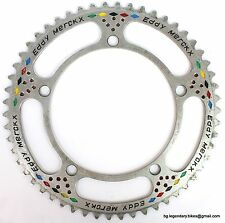 Vintage Eroica Campagnolo Record CHAINRING ENGRAVED EDDY MERCKX 54T 144 BCD