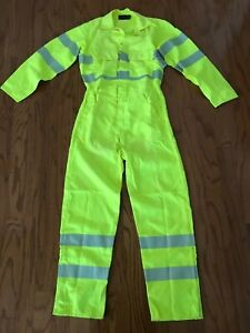 DRIFIRE Fire Resistant DF2-324CA Fluorescent Reflective Suit Coverall S NEW TAG