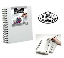 A5 Royal & Langnickel Sketchbook Pad White Hardback Canvas Spiral Bound 110gsm