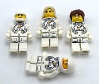 LEGO 4 NEW SPACE MINIFIGURES ASTRONAUTS MALE & FEMALE FIGURES