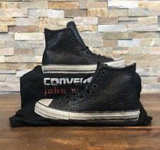 Converse X John Varvatos CTAS Black Wire Leather High Top Sneaker 156727C