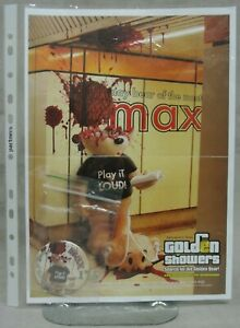 """BAD TASTE BEARS OFFICIAL POSTER AND BADGE FOR MAY 2007 - """"MAX"""" - NO 175."""