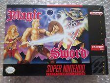 Magic Sword Super Nintendo SNES Complete in Box CIB