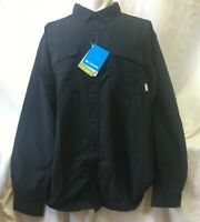 Columbia Omni-Shield  UPF 50 Button Down Shirt Black New with Tags Size Large